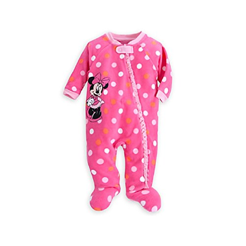 f2c6517407 Disney Store Minnie Mouse Polka Dots Blanket Sleeper Pajamas for Baby