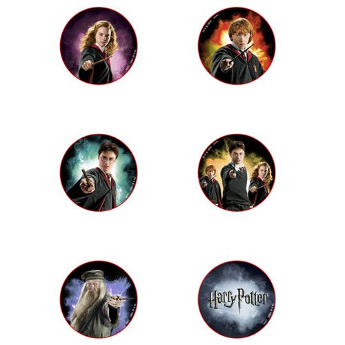 Harry Potter 'Half Blood Prince' Character Pin Set of 6