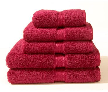 2 PC Luxury Egyptian Cotton Combed Bath Towels Set Burgundy