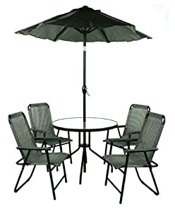Jiaxing Hero Import And Export Hj-043-093-um2m 6-piece Table Chair And Umbrella P from Patio Furniture