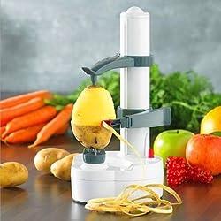 Electric Auto Rotating Potato Peeler Pear Apple Fruit Vegetable Cutter Slicer Kitchen Utensil -
