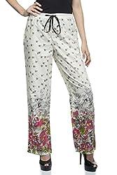 One Femme Women's Cotton Floral Print Pyjama (OFPJF010_White 01_XXXX-Large)