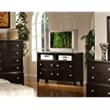 Argein Solid Wood Fully Assembled TV chest / TV dresser , Dark Espresso Finish