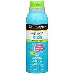 Neutrogena Wet Skin Junior Sunblock Spray SPF 70, 5 Ounce(Pack of 2)
