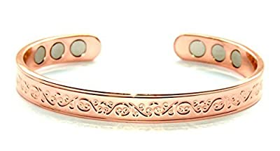 Healing Copper Magnetic Bio Therapy Bangle Bracelet Arthritis Pain Relief.