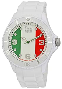 ICE-Watch - Montre Mixte - Quartz Analogique - Ice-World - Italy - Big - Cadran Multicolore - Bracelet Silicone Blanc - WO.IT.B.S.12
