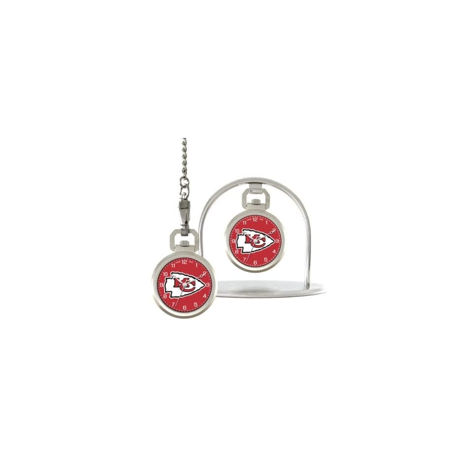 Kansas City Chiefs Game Time NFL Pocket Watch/Desk Clock