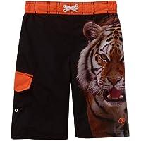 OP Ocean Pacific Tiger Big Cat Boys Swim Trunks Board Shorts (Extra Small 4/5)