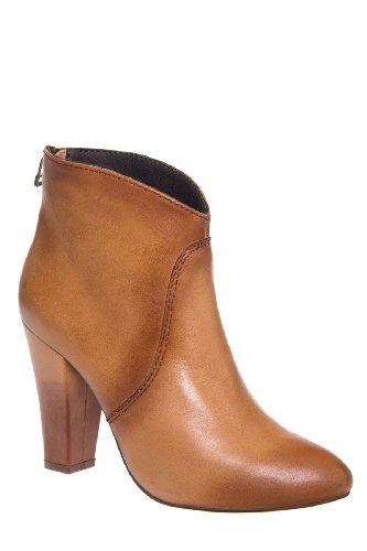 Steven Bailen High Heel Almond Toe Saddle Bootie