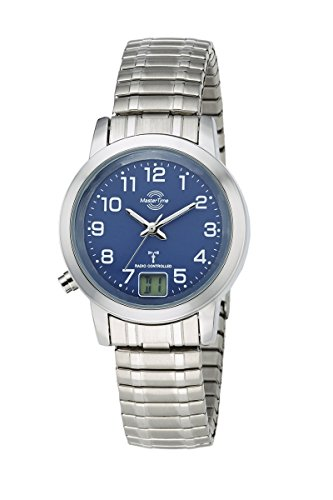 Master Time Damen-Funkuhr Master Time Funk Basic Series Damenuhr MTLA-10492-32M mit Zugband Damen-Funk-Armbanduhr
