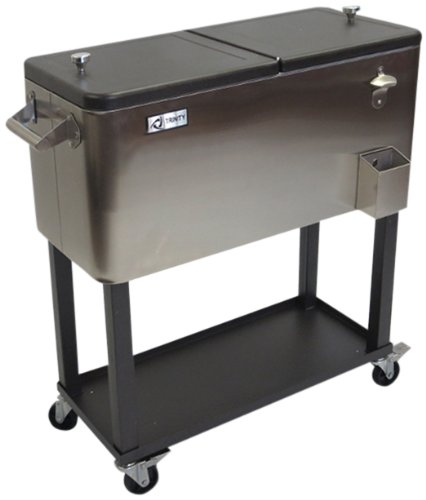 Big Save! TRINITY THL-0802 Stainless Steel Cooler with Shelf