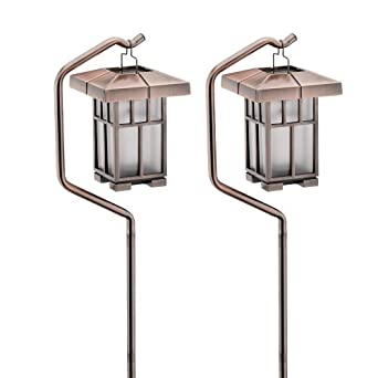 malibu outdoor solar powered prairie style light antique