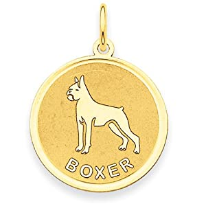 14k Gold Boxer Disc Charm
