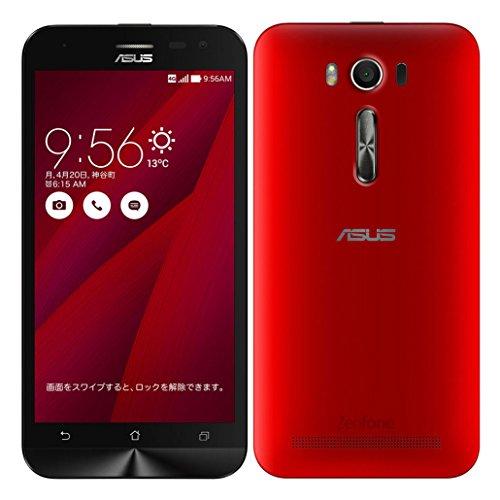 ASUS SIMフリー スマートフォン ZenFone 2 Laser レッド ZE500KL-RD08 国内正規版(楽天アプリなし)Snapdragon410 / Android 5.0.2 / RAM 2GB / ROM 8GB / 5型ワイド