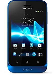 Sony Xperia tipo Smartphone (8,1 cm (3,2 Zoll) Touchscreen, 3,2 Megapixel Kamera, Android 4.0) blau