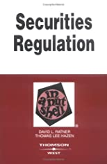 Securities Regulation in a Nutshell