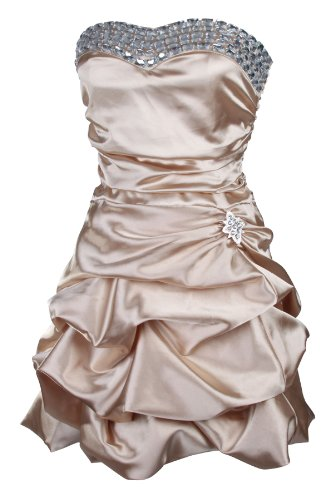 My Evening Dress Damen trägerloses kurzes Cocktailkleid Abendkleider Ballkleider Minikleider Kleider Frauen Champagner Reviews