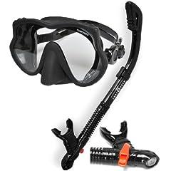 Buy Aqua Lung Sport Scuba Snorkeling Dive Mask Dry Snorkel Set by Aqua Lung