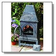 Cast Iron Casita Chiminea Fireplace