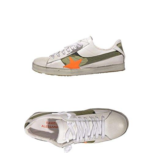 Daniele Alessandrini F020 Sneakers Uomo 100% Pelle Bianco Bianco 41