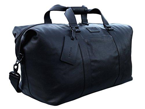belarno-b105-leather-duffel-bag-21inch-long-black