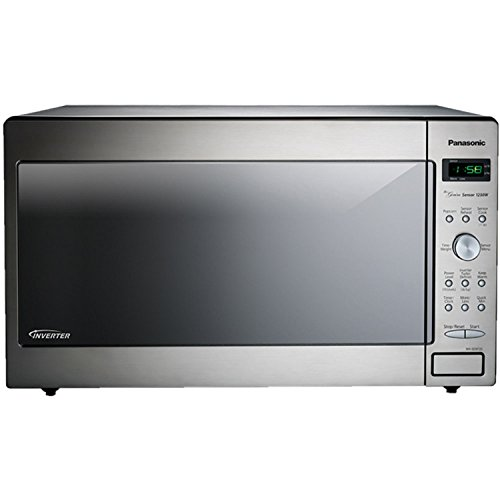Panasonic NN-SD972-S Stainless Steel Genius Counter Top/Built-In Microwave Oven with Inverter Technology, 1250-watt