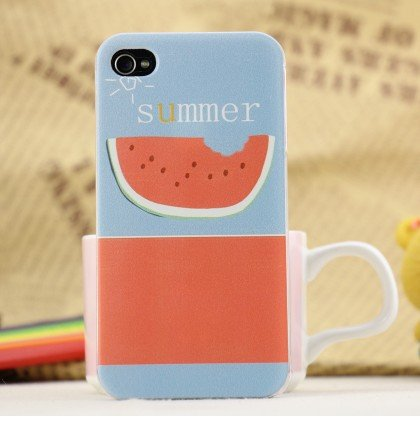 Happy Buy Mall Information graphics Summer Watermelon iphone4s iphone4 phone shell protective shell painting