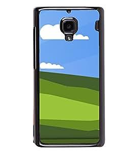Green Fields 2D Hard Polycarbonate Designer Back Case Cover for Xiaomi Redmi 1S :: Xiaomi Redmi 1