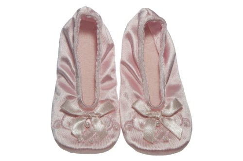 Satin Pearl Ballerina Slippers