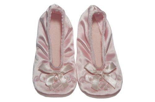 Satin Pearl Ballerina Slippers