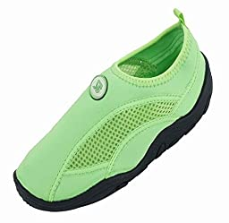 Brand New Toddlers Slip-On Athletic Green Water Shoes / Aqua Socks Size 7