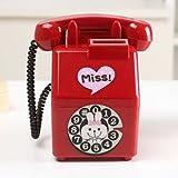 昔どこの 街角にもあった 赤電 昭和風 オシャレで 可愛い 赤い 公衆電話型 貯金箱 小銭入れ お札も入る