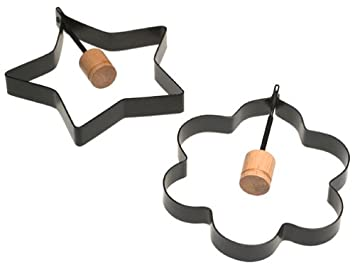 Norpro Nonstick Star and Flower Pancake Egg Rings at Amazon.com