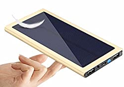 Shinecon S1 slim solar power bank 10000mah with flash light