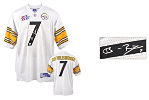 Ben Roethlisberger Pittsburgh Steelers Autographed White Jersey with Super Bowl XL... by Sports Memorabilia