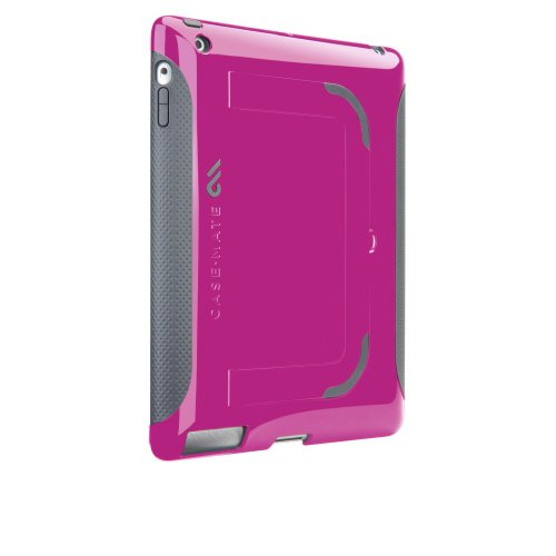 Case-Mate 日本正規品 iPad 2 Pop! Hybrid Seamless Co-Molding Case, Pink / Cool Gray スタンド機能つき ハイブリッド シームレス ケース ピンク/クールグレー CM013588