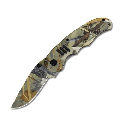 """Predator 4.75"""" Razoredge All Camo Non Serrated, Camo Finish Blade- Camo Finish Handle With Pocket Clip"""