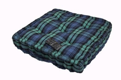 100% Cotton Black Watch Tartan Floor Cushion