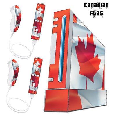 Nintendo Wii Console Skin - Canada Flag