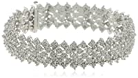 Sterling Silver 3.0 Cttw Diamond Bracelet from HNJ, Inc.