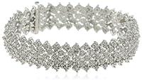 Sterling Silver 3.0 Cttw Diamond Bracelet from HNJ, Inc.