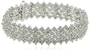 Sterling Silver 3.0 Cttw Diamond Bracelet
