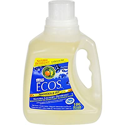 Earth Friendly Ecos Ultra 2x All Natural Laundry Detergent - Magnolia and Lily - Case of 4 - 100 fl oz