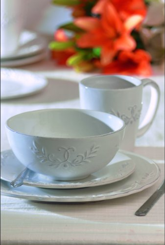 American Atelier Bianca Laurel 16-Piece Dinnerware Set