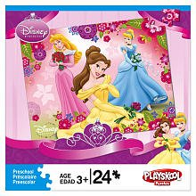 Picture of Playskool Disney Princess 24-Piece Puzzle - Aurora, Belle &Cinderella (B002R7O53M) (Puzzle Accessories)