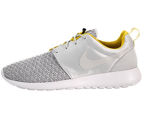 Nike Roshe Run Premium - Light Base Grey / Light Base Grey-Bright Citron, 10 D US