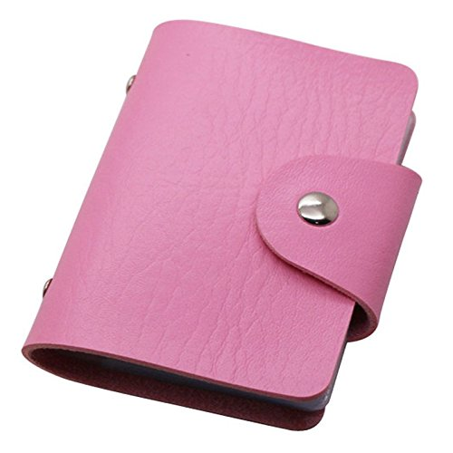 MiL High Quality PU Leather Credit Card Holder with 24 Card Slots (Pink) (Dog Tag Display Case compare prices)