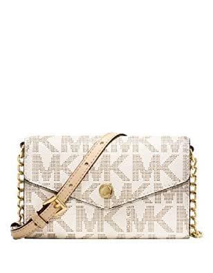 Michael Kors Signature PVC Electronics Phone Crossbody Handbag