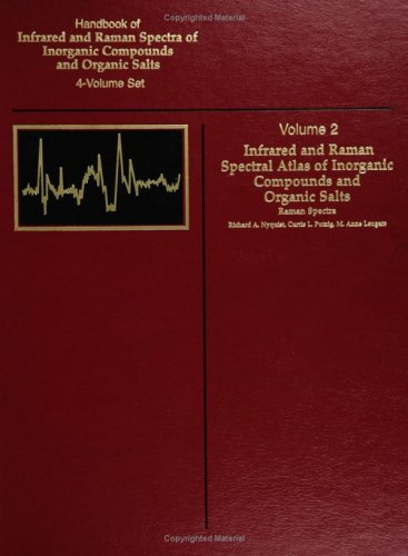 Handbook Of Infrared And Raman Spectra Of Inorganic Compounds And Organic Salts: Raman Spectra, Vol. 2