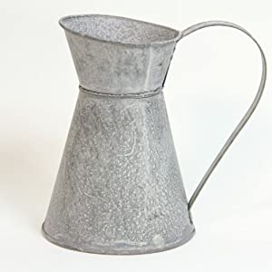 Galvanised Milk Jugs to add a touch of nostalgia to your country kitchen - Medium 16 x 12cm Code:22590